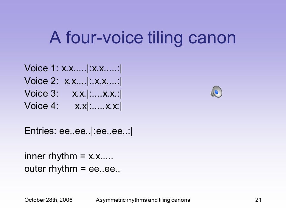 A four-voice tiling canon