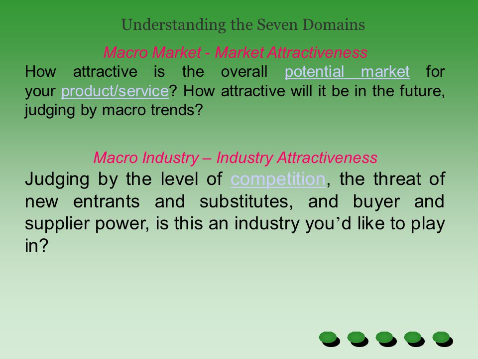Understanding the Seven Domains