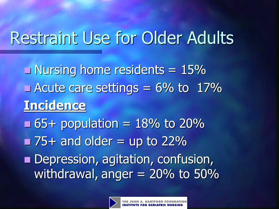 Restraint Use for Older Adults