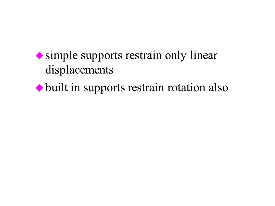 simple supports restrain only linear displacements