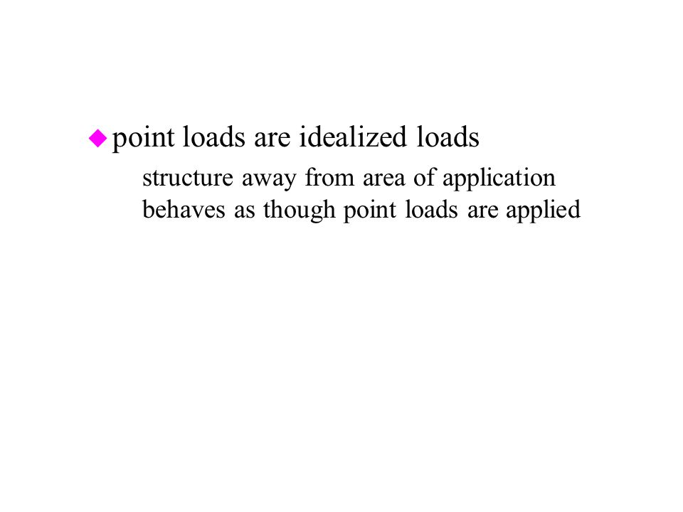point loads are idealized loads