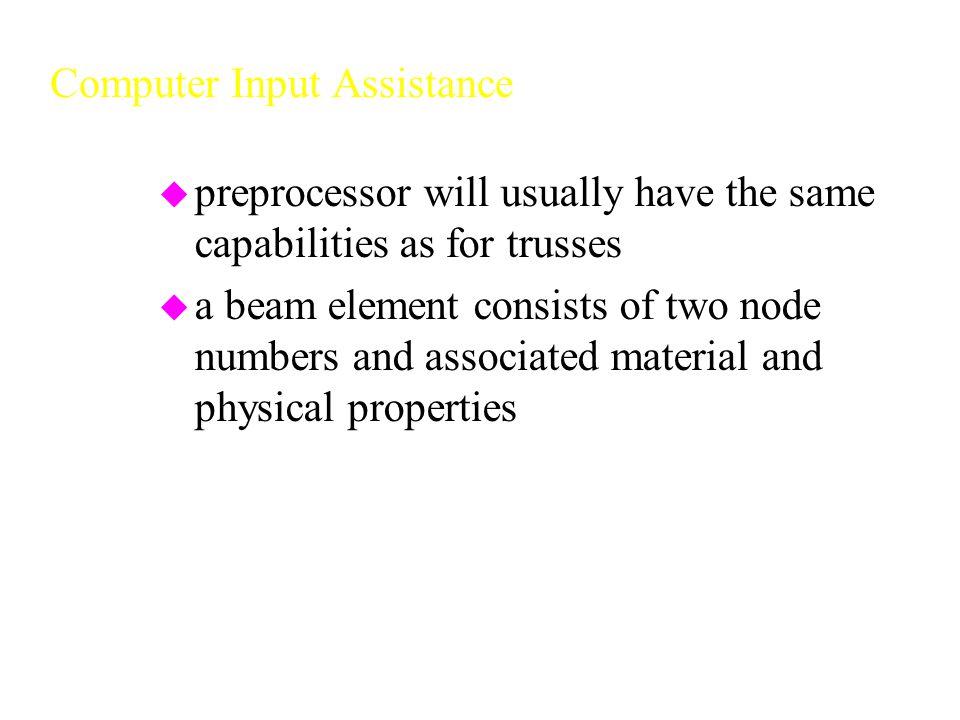 Computer Input Assistance