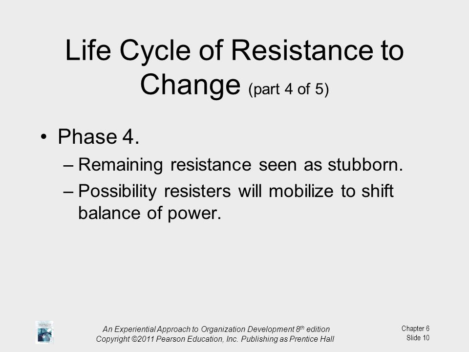 Life Cycle of Resistance to Change (part 4 of 5)
