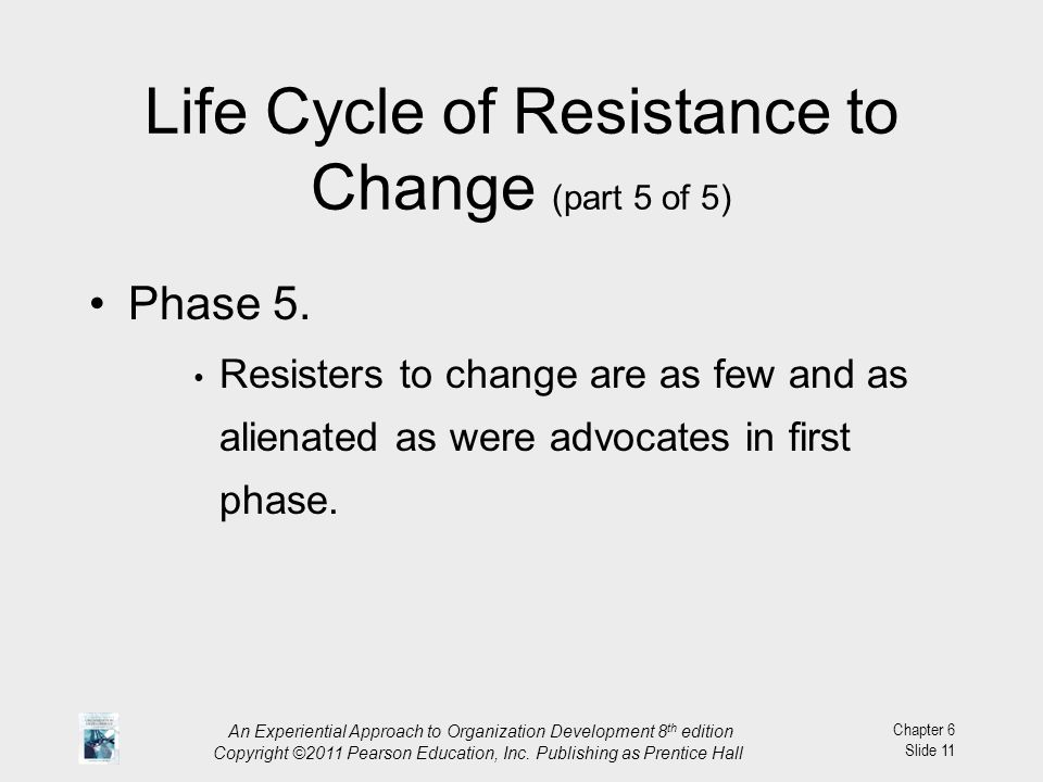 Life Cycle of Resistance to Change (part 5 of 5)