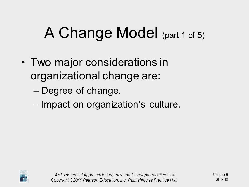 A Change Model (part 1 of 5)