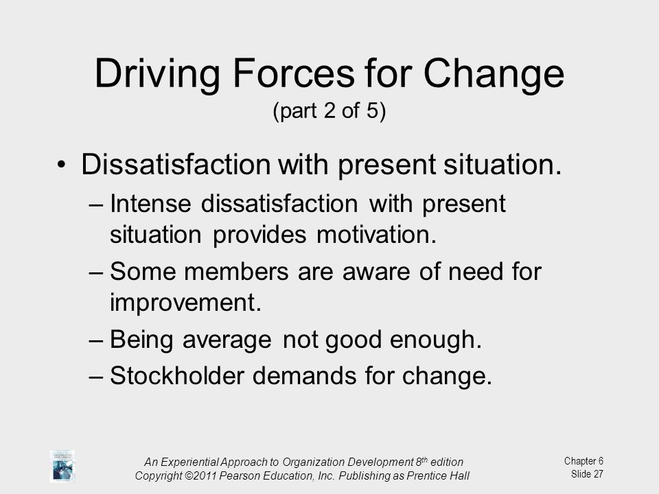 Driving Forces for Change (part 2 of 5)