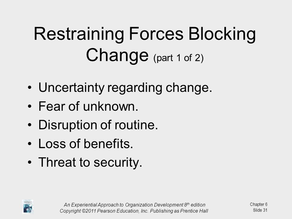 Restraining Forces Blocking Change (part 1 of 2)