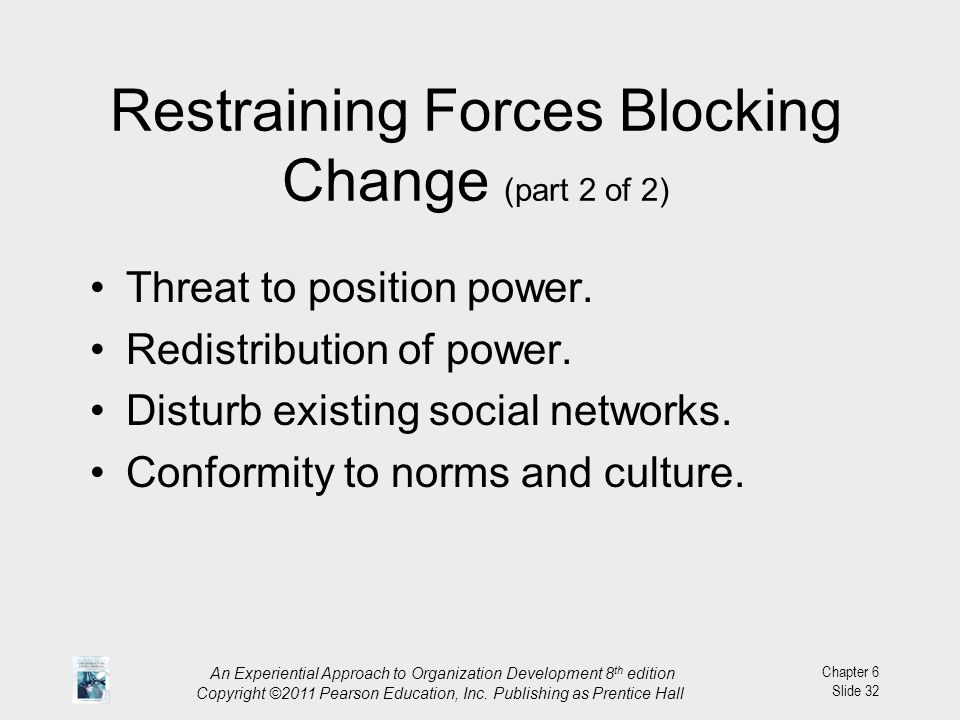 Restraining Forces Blocking Change (part 2 of 2)