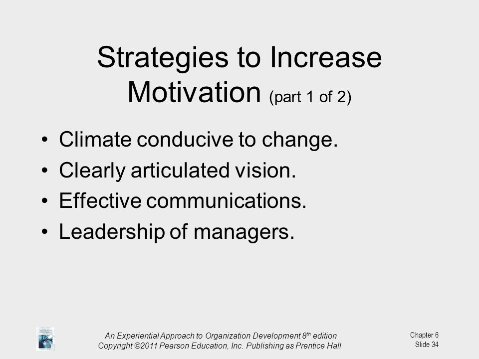 Strategies to Increase Motivation (part 1 of 2)
