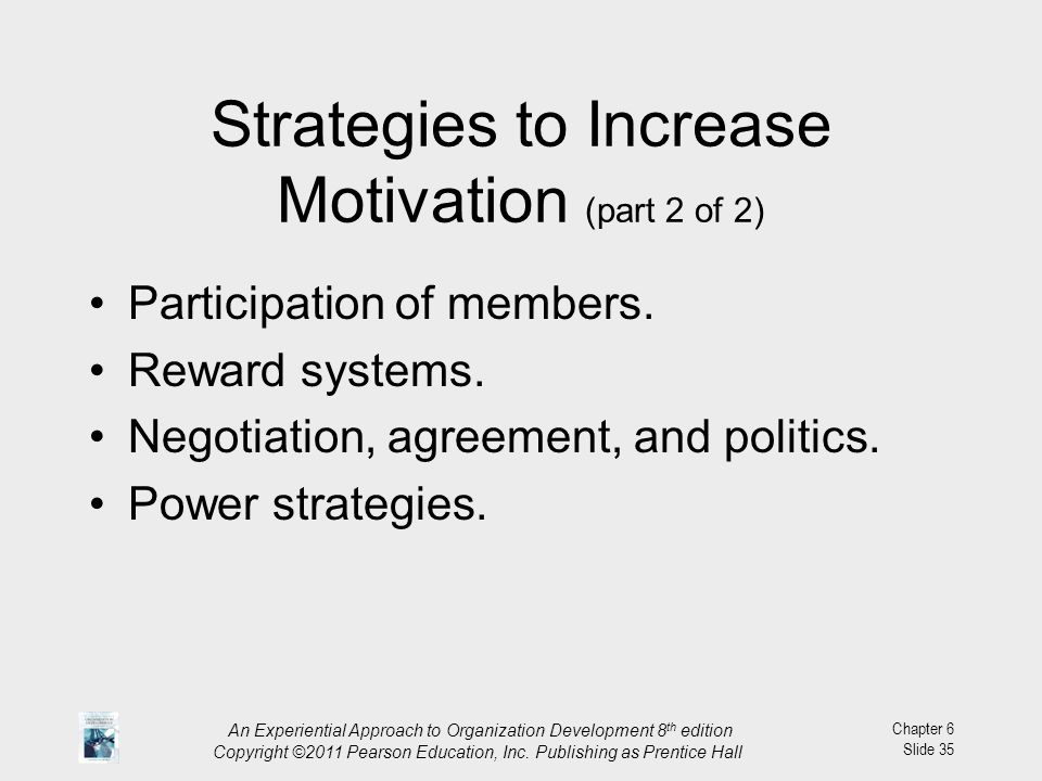 Strategies to Increase Motivation (part 2 of 2)