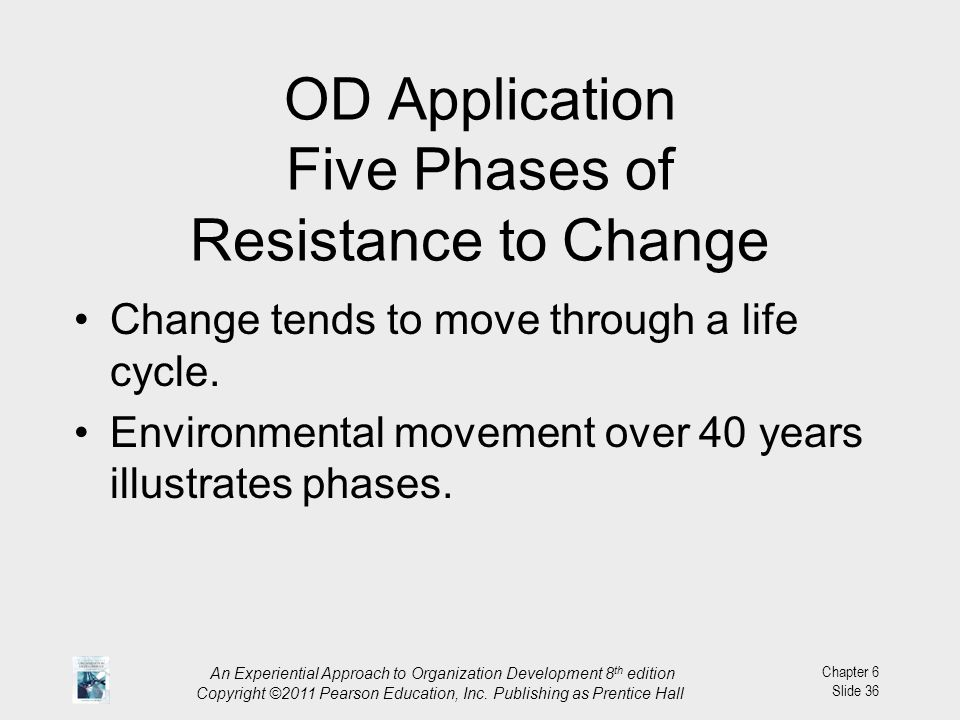 OD Application Five Phases of Resistance to Change