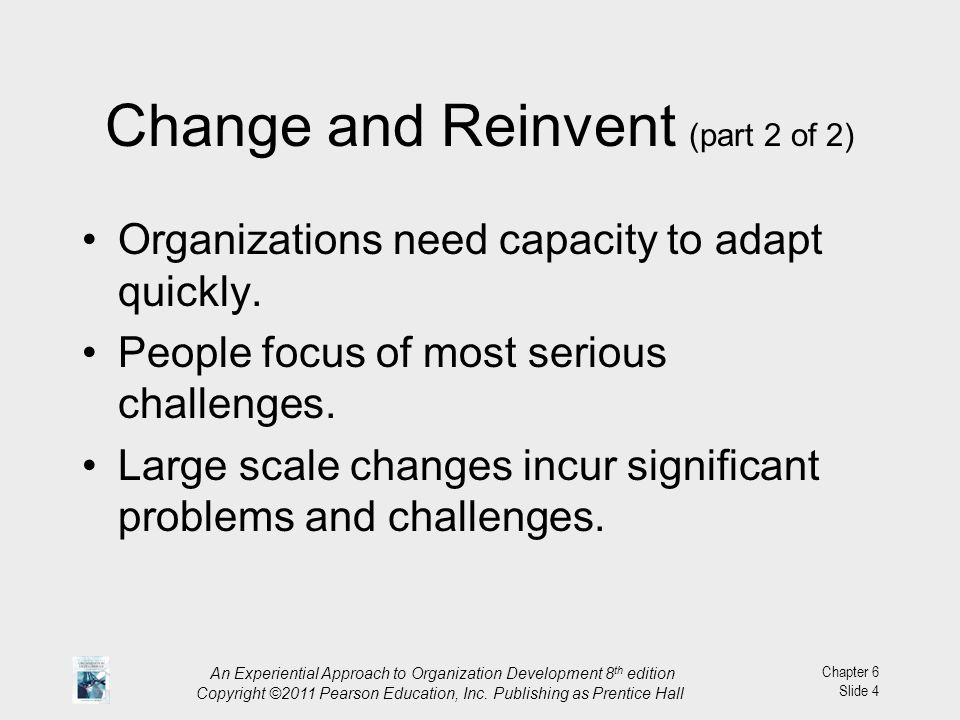 Change and Reinvent (part 2 of 2)
