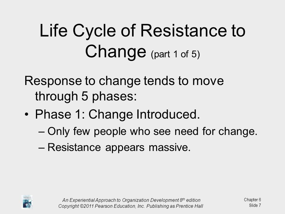 Life Cycle of Resistance to Change (part 1 of 5)