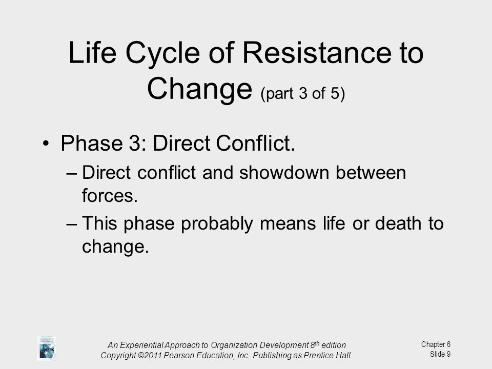 Life Cycle of Resistance to Change (part 3 of 5)