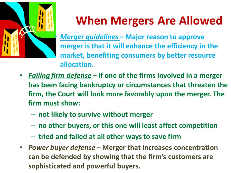 When Mergers Are Allowed