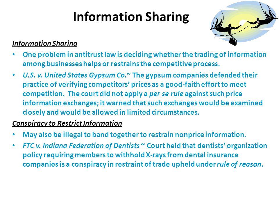 Information Sharing Information Sharing