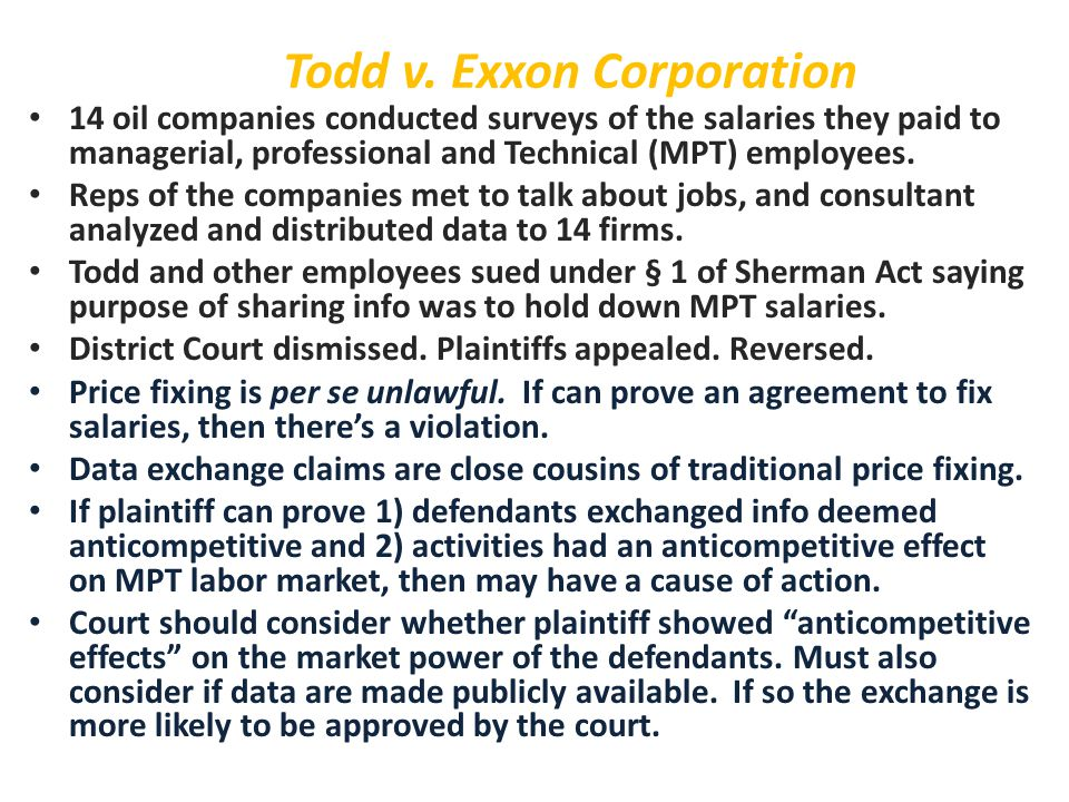 Todd v. Exxon Corporation