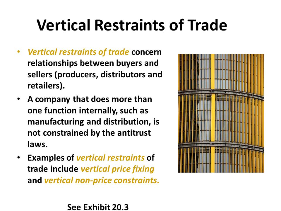 Vertical Restraints of Trade