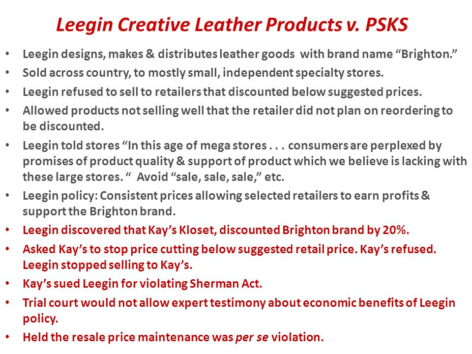 Leegin Creative Leather Products v. PSKS