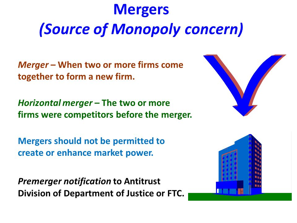 Mergers (Source of Monopoly concern)