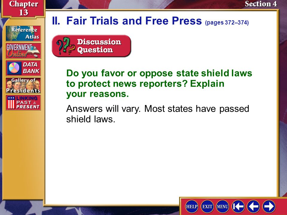 II. Fair Trials and Free Press (pages 372–374)