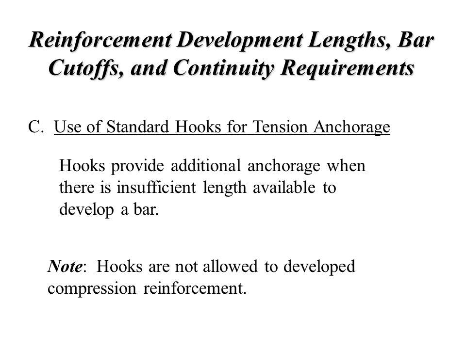 Reinforcement Development Lengths, Bar Cutoffs, and Continuity Requirements