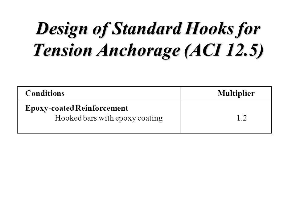 Design of Standard Hooks for Tension Anchorage (ACI 12.5)