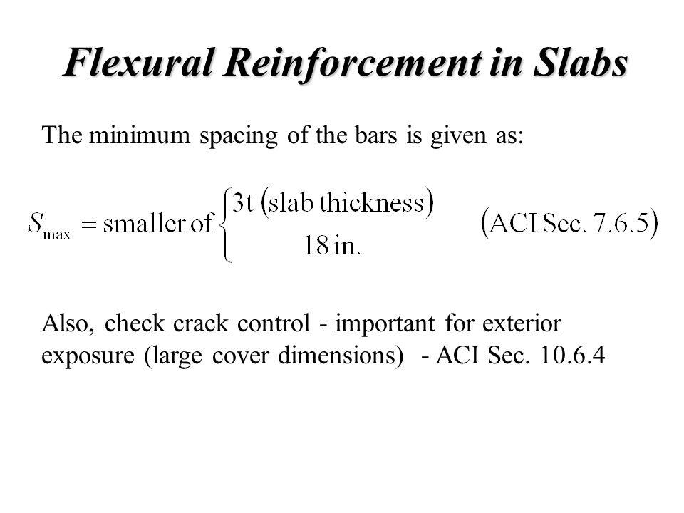 Flexural Reinforcement in Slabs