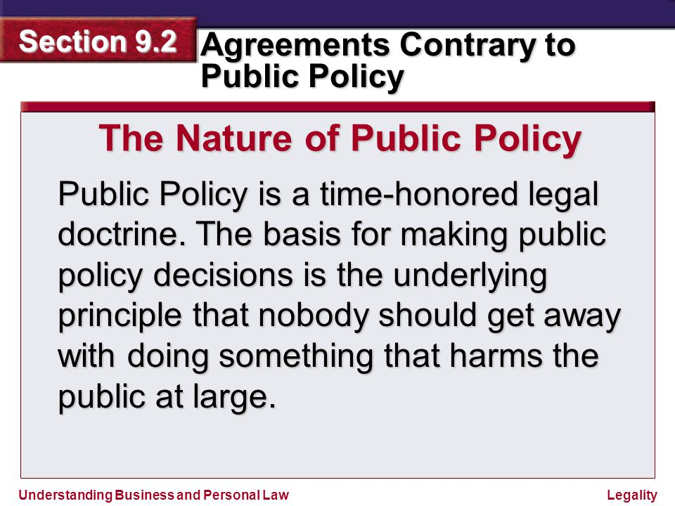 The Nature of Public Policy