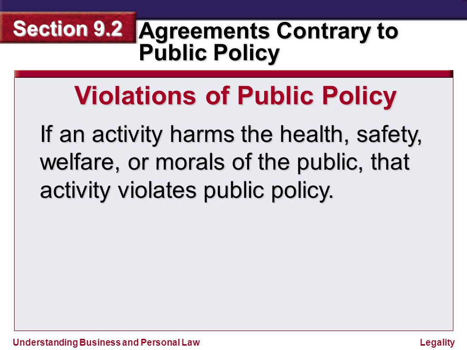 Violations of Public Policy