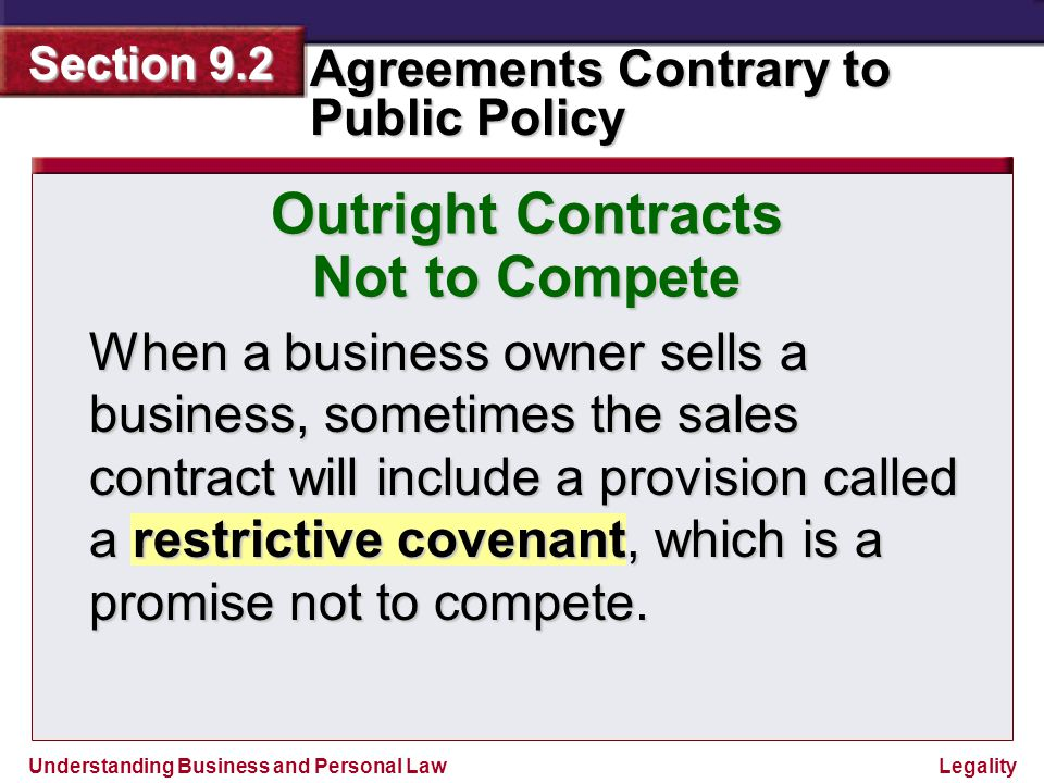 Outright Contracts Not to Compete
