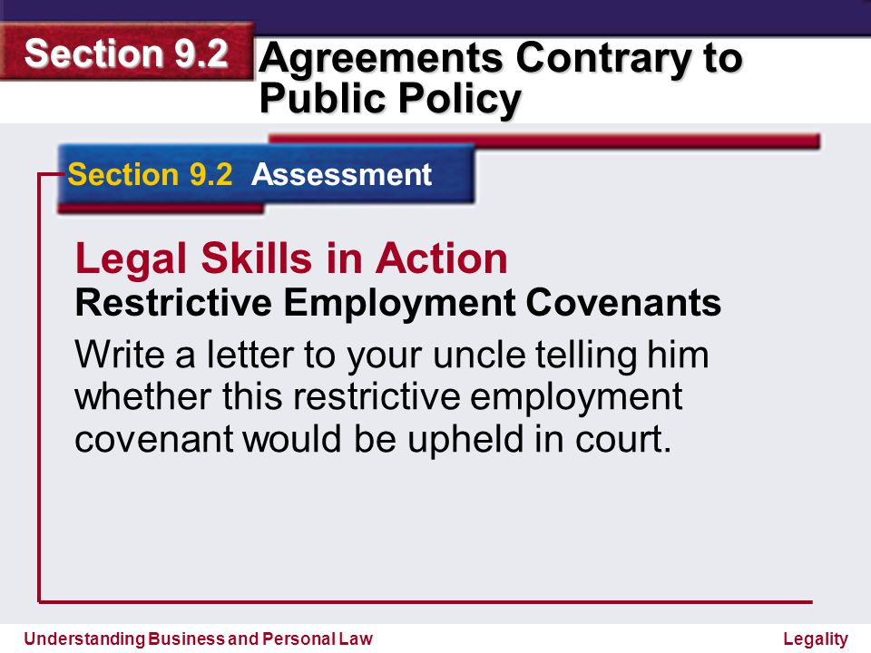 Legal Skills in Action Restrictive Employment Covenants