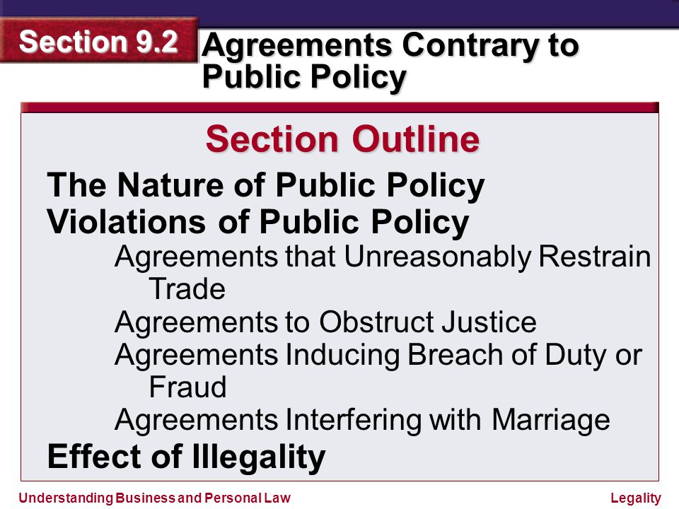 Section Outline The Nature of Public Policy