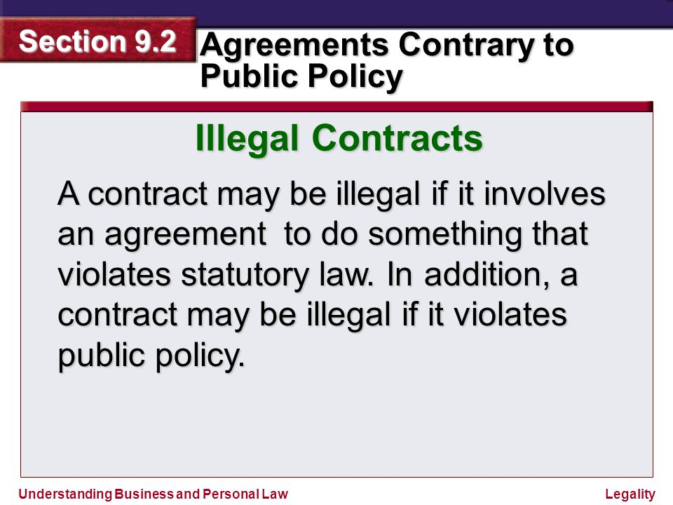 Illegal Contracts