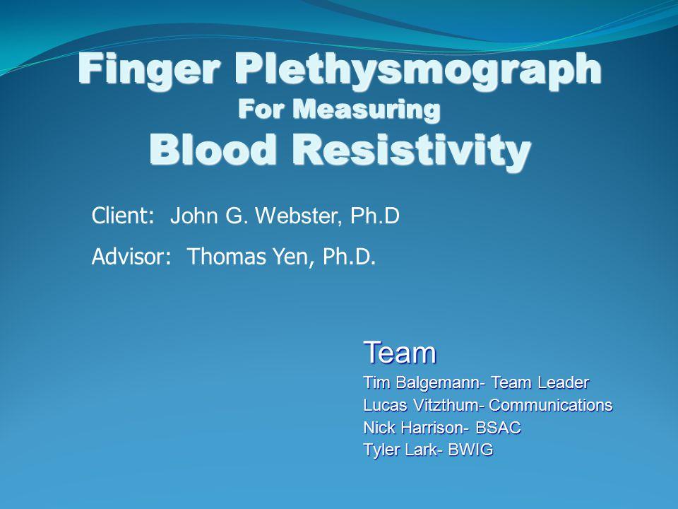 Finger Plethysmograph