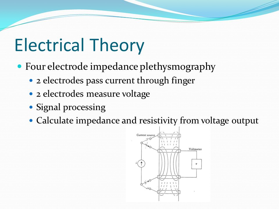 Electrical Theory Four electrode impedance plethysmography
