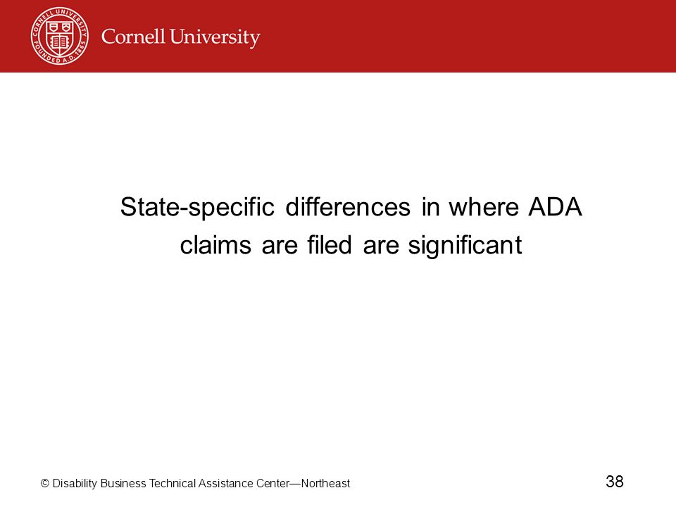 State-specific differences in where ADA