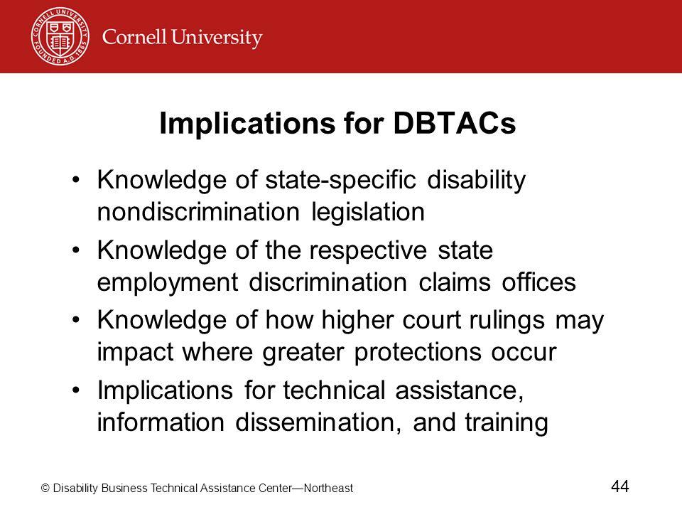 Implications for DBTACs