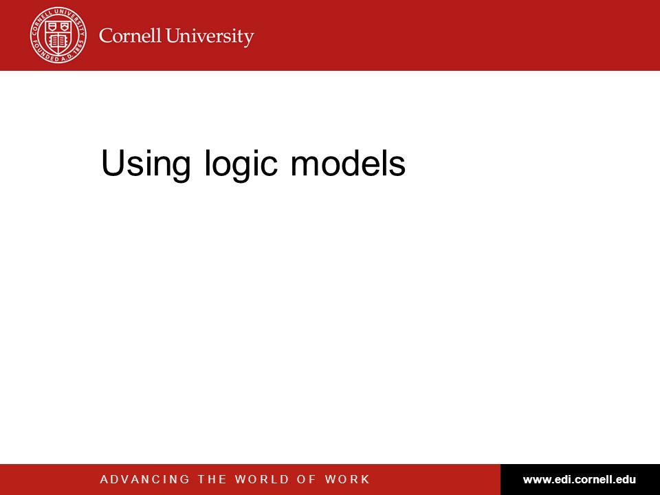 Using logic models www.edi.cornell.edu