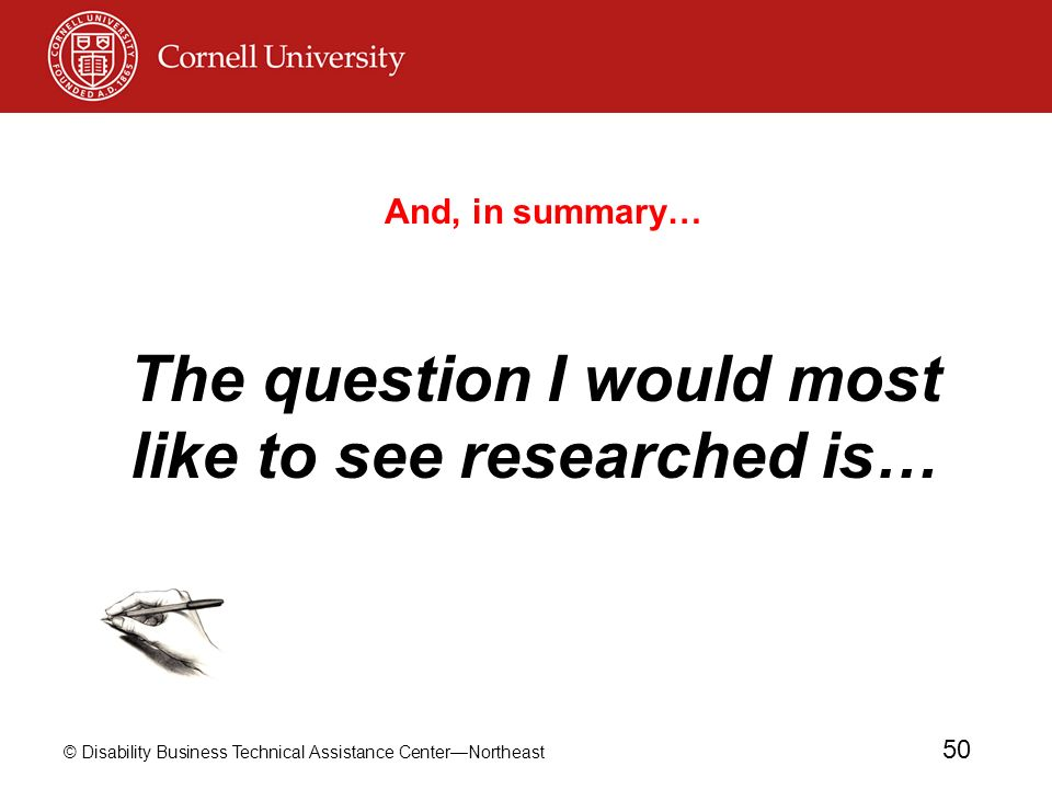 The question I would most like to see researched is…