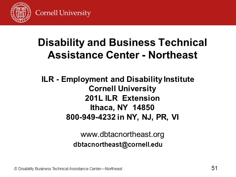 Disability and Business Technical Assistance Center - Northeast