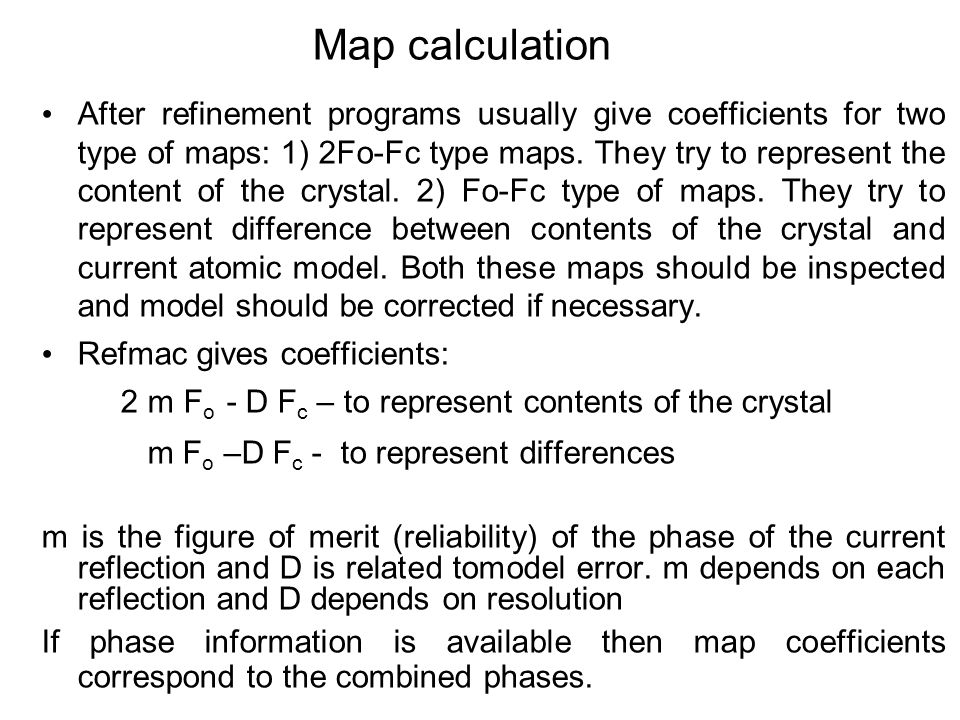 Map calculation