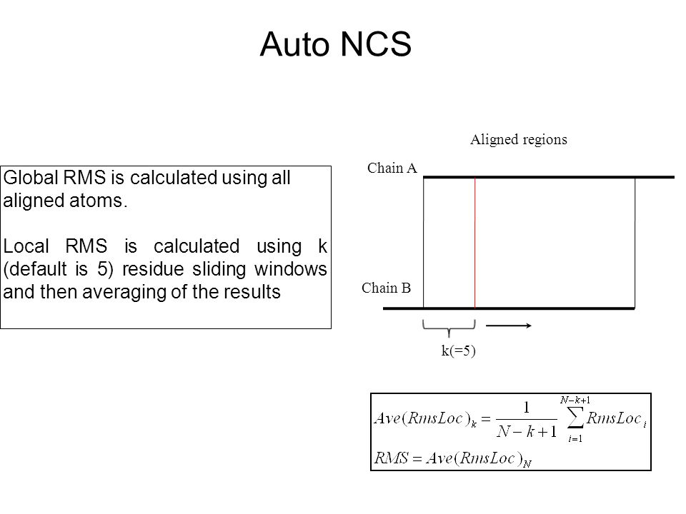 Auto NCS Global RMS is calculated using all aligned atoms.