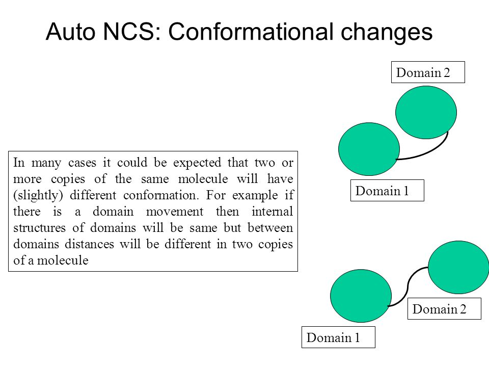 Auto NCS: Conformational changes