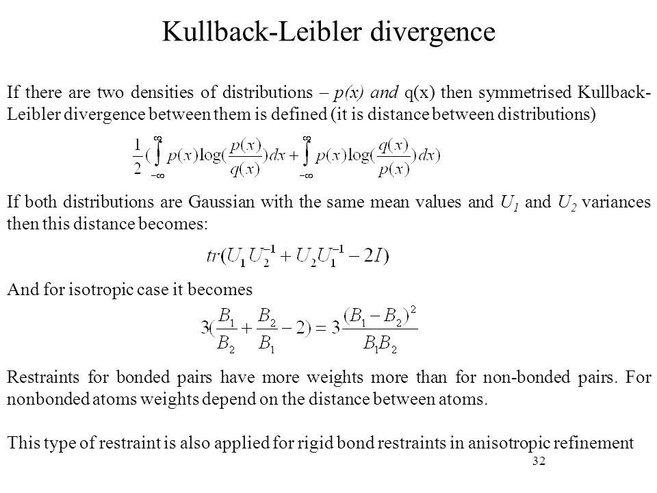 Kullback-Leibler divergence