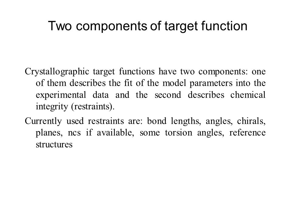 Two components of target function