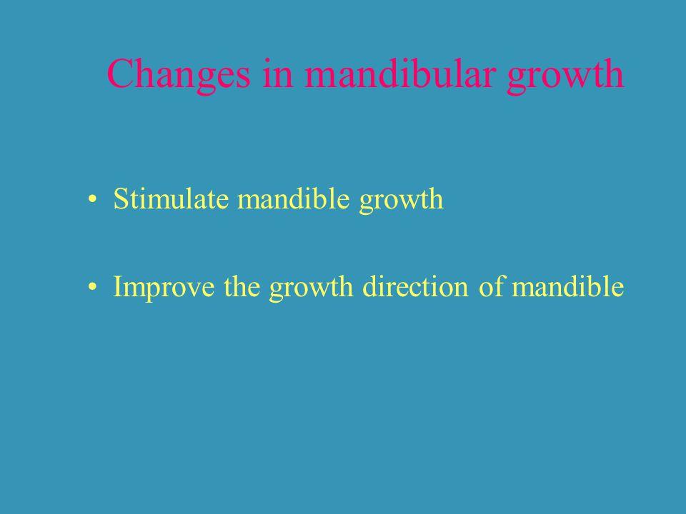 Changes in mandibular growth