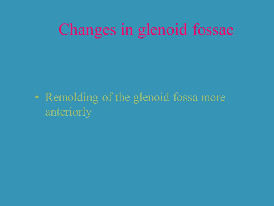 Changes in glenoid fossae