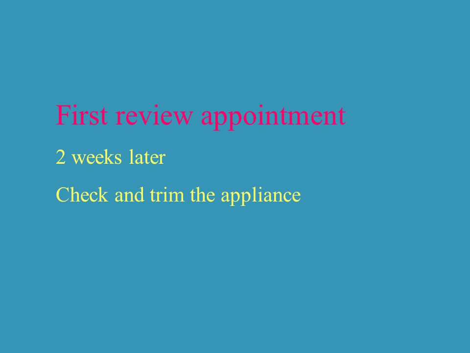 First review appointment