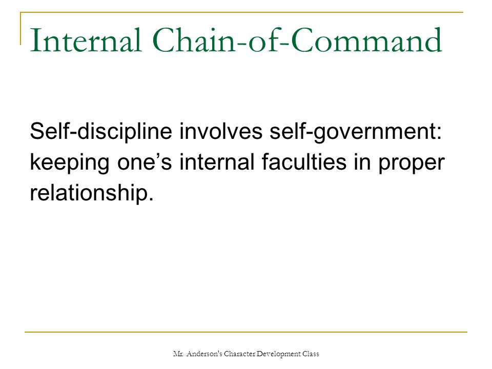 Internal Chain-of-Command